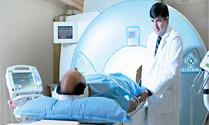 Man performing an MRI.